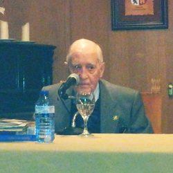 """Nuestro asociado el Consejero Togado D. Jesús López Medel disertó sobre: """"Los campamentos de la milicia universitaria"""", el pasado jueves día 26, en la Casa de Burgos en Madrid."""
