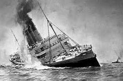 """22 de mayo. RLNE. Mesa redonda """"El hundimiento por el submarino alemán U-20, y  del trasatlántico  RMS LUSITANIA"""