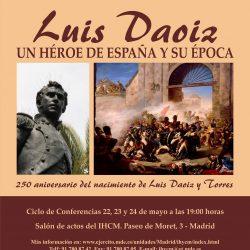 """22, 23 y 24 de mayo. IHCM. Ciclo """"Luis Daoiz, un héroe de España y su época"""""""
