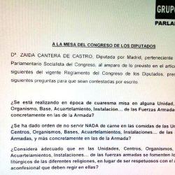 Las interpelaciones parlamentarias de la Diputada Dña. Zaida Cantero
