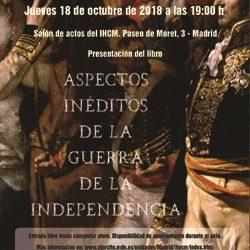 """IHCM. Presentación del libro colectivo """"Aspectos inéditos de la Guerra de la Independencia"""""""