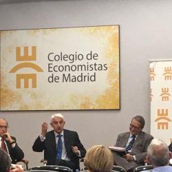 """""""Defensa: Estado y Sociedad. El caso de España"""", presentado en el Colegio de Economistas de Madrid."""