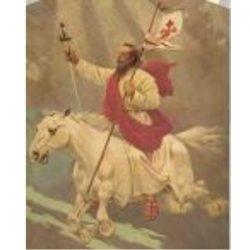 Santiago Apóstol, Patrono de España y de la Caballería de su Ejército.